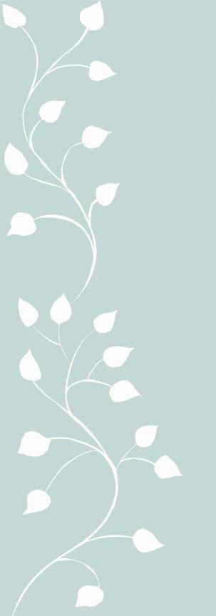 Casart White Robins Egg Leaf Scrol l- Botanicals 4