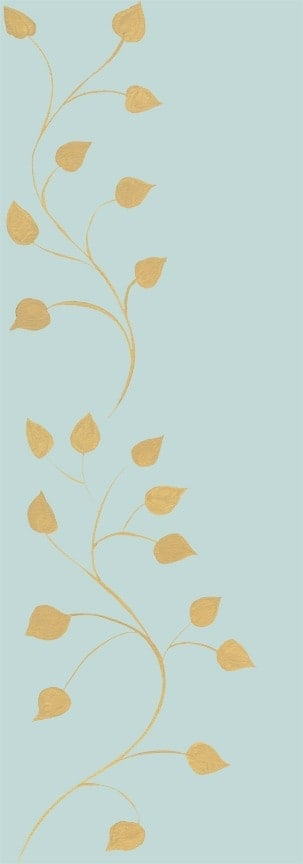 Casart Beige Robins Egg Leaf Scroll - Botanicals 5