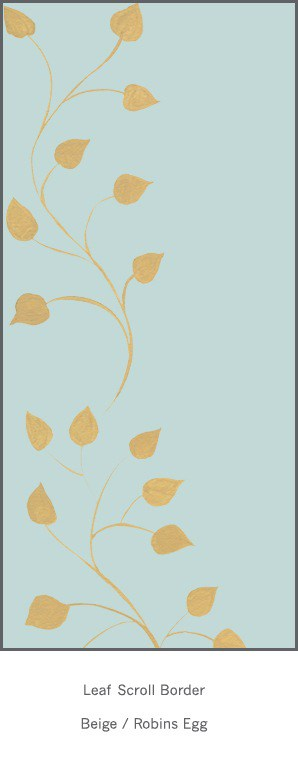 Casart Beige Robins Egg Leaf Scroll - Botanicals 5x