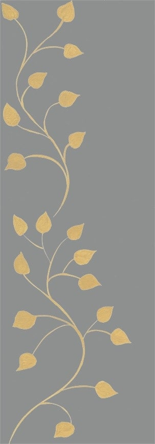 Casart Beige Gray Leaf Scroll- Botanicals 6