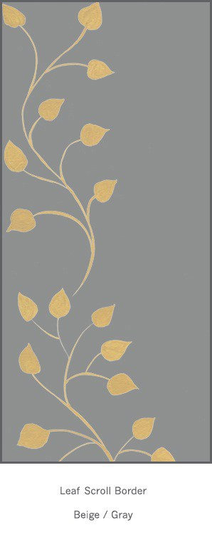 Casart Beige Gray Leaf Scroll - Botanicals 6x