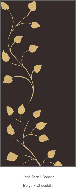 Casart Beige Chocolate Leaf Scroll - Botanicals 7x