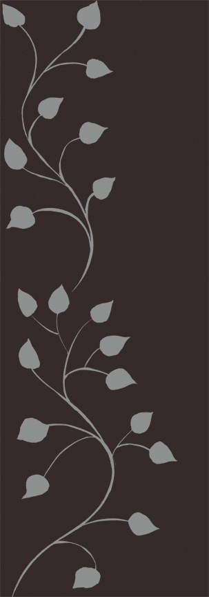 Casart Gray Chocolate Leaf Scroll - Botanicals 8