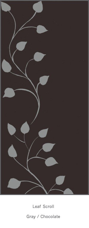 Casart Gray Chocolate Leaf Scroll - Botanicals 8x