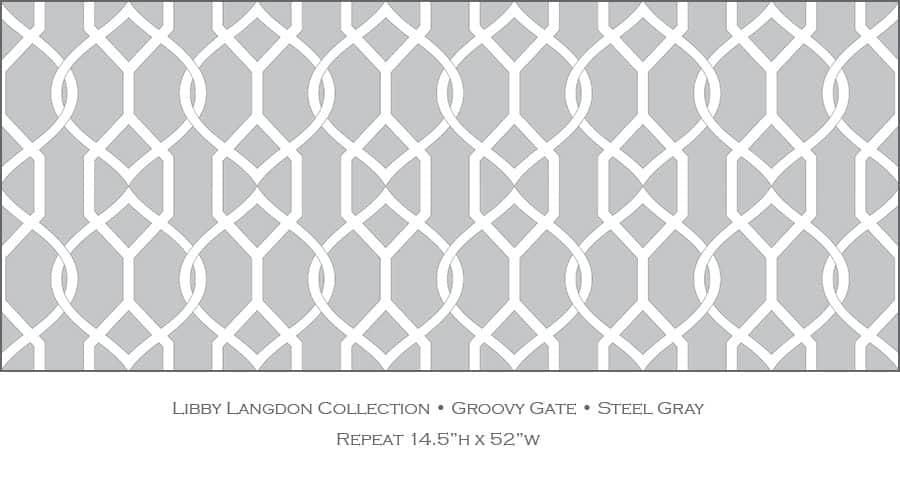 Casart coverings Steel Gray Groovy Gate_Libby Langdon Collection_1x