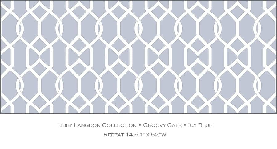Casart coverings Icy Blue Groovy Gate_Libby Langdon Collection_2x