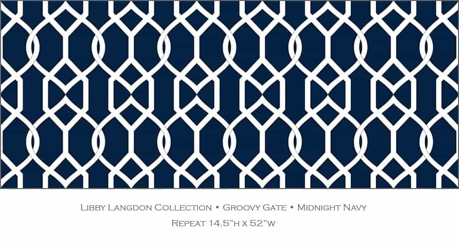 Casart coverings Midnight Navy Groovy Gate_Libby Langdon Collection_3x