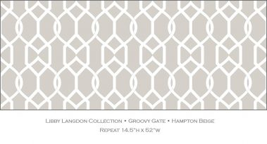 Casart coverings Hampton Beige Groovy Gate_Libby Langdon Collection_4x