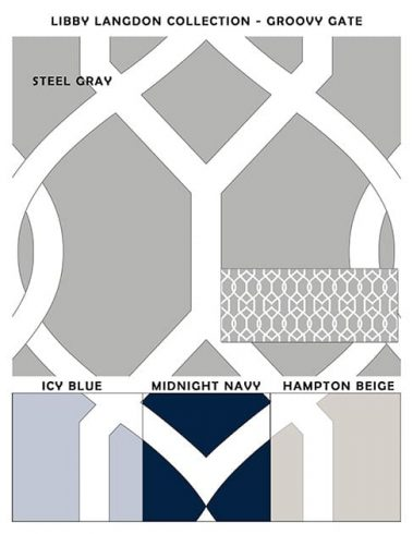 Casart coverings Groovy Gate Libby Langdon Collection Sample