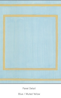 Casart Blue Muted Yellow Faux Panel_Architectural_3x