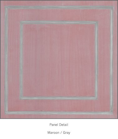 Casart Maroon Gray Faux Panel_Architectural_5x
