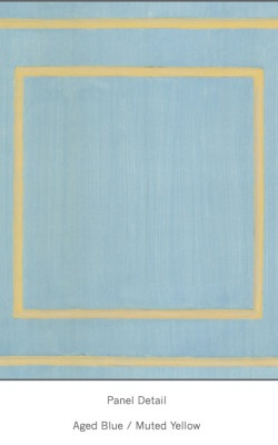 Casart Aged Blue Muted Yellow Faux Panel_Architectural_6x