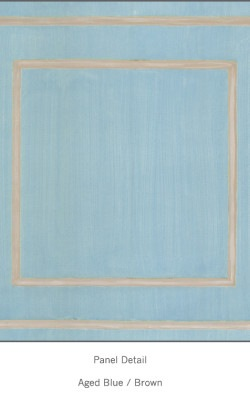 Casart Aged Blue Brown Faux Panel_Architectural_7x