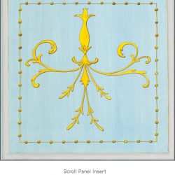 Casart Panel SGrotesca croll Blue/ Gray_Architectural Insert 6x Panel Scroll Blue/Gray_Architectural Insert 4x