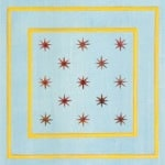 Casart Faux Panel Star Blue/ Yellow Gold Insert_Architectural 1