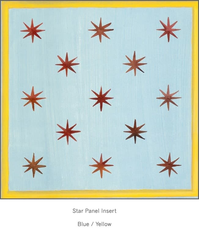 Casart Faux Panel Star Blue/ Yellow Gold Insert_Architectural Detail 1x