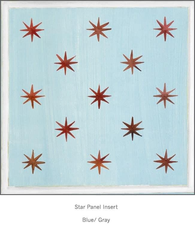 Casart Faux Panel Star Blue/White Insert_Architectural Detail 4x