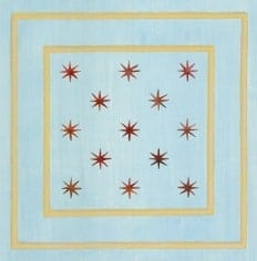 Casart Faux Panel Star Blue/Muted Yellow Insert_Architectural Detail 3