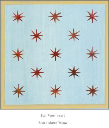 Casart Faux Panel Star Blue/Muted Yellow Insert_Architectural Detail 3x