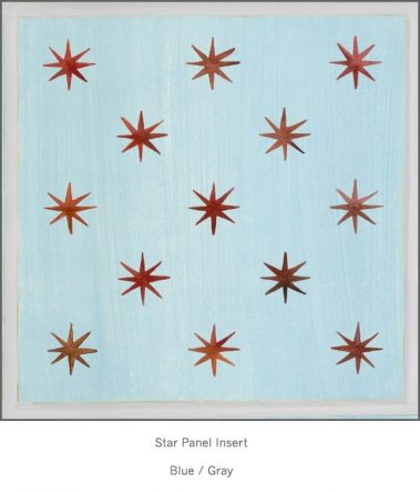 Casart Faux Panel Star Blue/Gray Insert_Architectural Detail 4x