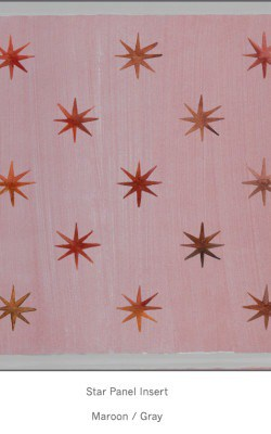 Casart Faux Panel Star Maroon/Gray Insert_Architectural Detail 5x