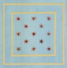 Casart Faux Panel Star Aged Blue/Muted Yellow Insert_Architectural 6