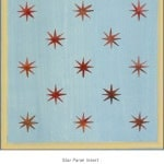 Casart Faux Panel Star Aged Blue/Muted Yellow Insert_Architectural Detail 6x