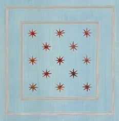Casart Faux Panel Star Aged Blue/Gray Insert_Architectural 7