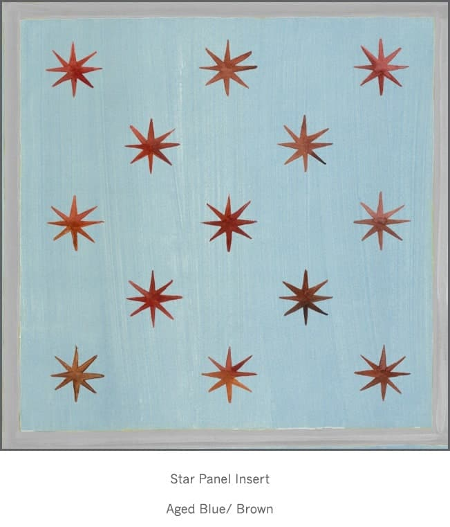 Casart Faux Panel Star Aged Blue/Gray Insert_Architectural Detail 7x