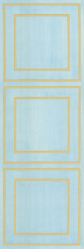 Casart Blue / Muted Yellow Faux Panel Panels L 3