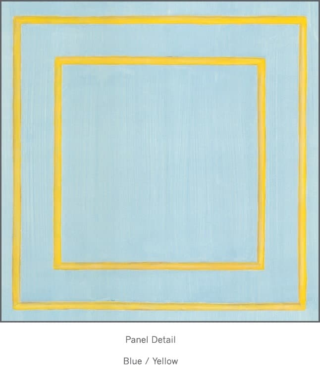 Casart Blue/Yellow Faux Panel_Architectural_1x