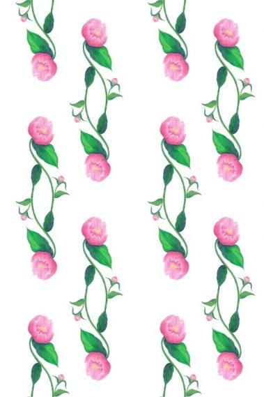 Casart Pink Peony Pattern 1