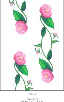 Casart Pink Peony Pattern Detail 1x