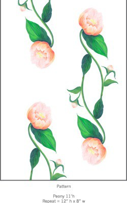 Casart Coral Peony Pattern Detail 2x