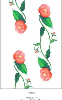 Casart Rose Peony Pattern Detail 4x