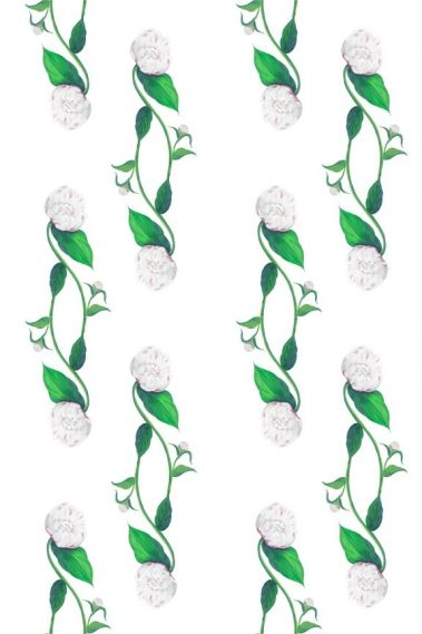 Casart White Peony Pattern 5
