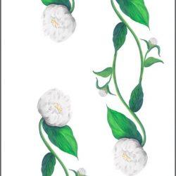 Casart White Peony Pattern Detail 5x