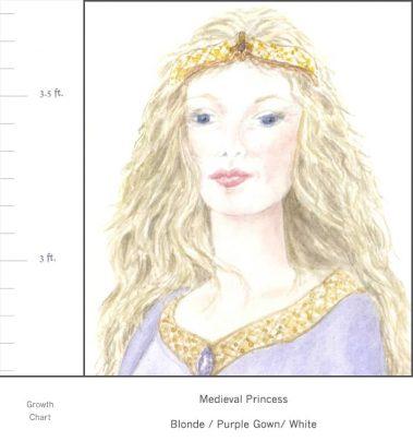 Casart Medieval Princess - growth chart