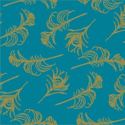 Casart coverings Peacock Blue/Turmeric Quill_Patterns_7