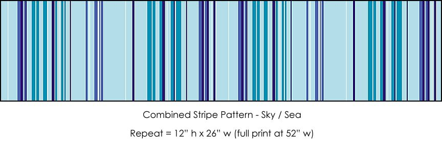 Casart Sky/Sea Stripes Combo_4x
