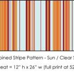 Casart Sun/Clear Sailing Stripes Combo_6x