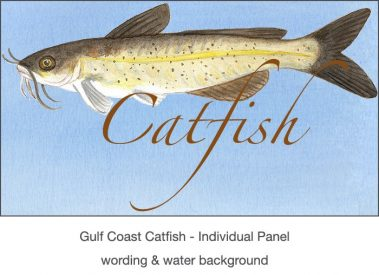 Casart_Gulf Coast Catfish water & wording_4x