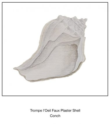 Casart_Conch Faux Plaster Shell Detail_5x