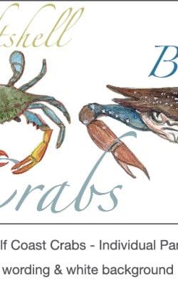 Casart_Gulf Coast Crabs white & wording_3x