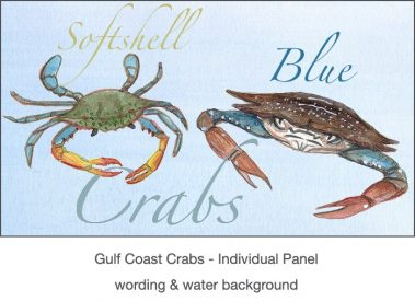 Casart_Gulf Coast Crabs water & wording_4x