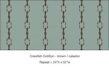 Casart_Crawfish-Cotillion Brown Celadon_10x