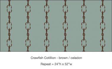 Casart_Crawfish-Cotillion Brown Celadon_10x