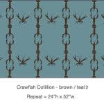 Casart_Crawfish-Cotillion Brown Teal 2_15x