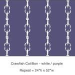 Casart_Crawfish-Cotillion White Purple_16x