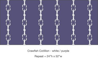 Casart_Crawfish-Cotillion White Purple_16x